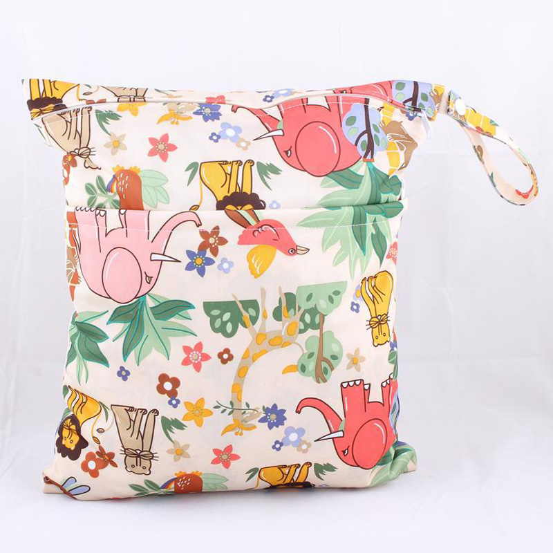 28 by 38 cm waterproof diapers bag napkins wetbag two bags nappies bag
