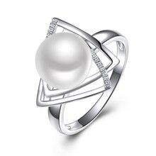 Sinya 925 סטרלינג כסף טבעת עם 9 10mm טבעי מים מתוקים פרל תכשיטים חתונה מותג אירוסין טבעת עבור נשים מאהב