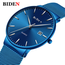 Luxury Royal Blue Stainless Steel Watch Men Top Brand Casual Watch Male Ultra Thin Clock Waterproof Quartz Wristwatches relogio