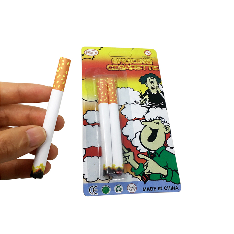 Joke Prank Novelty Lit End Fancy Gift For Sale Practical Jokes Funny Toy Trick Fake Cigarettes Fags Smoke Effect Jokes Toys