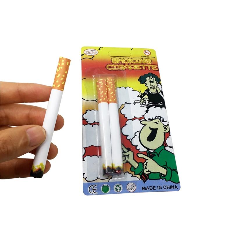Joke Prank Novelty Lit End Fancy Gift For Sale Practical Jokes Funny Toy Trick Fake Cigarettes Fags Smoke Effect Jokes Toys