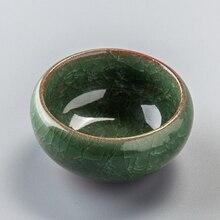 65ML Porcelain Bowls For Tea Cup Chinese Longquan Celadon Tea Set China Ceramic Crafts tea cup & saucer sets 6 Colors D056