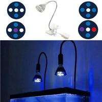 15W Aquarium LED Lighting Flexible Clip Switch LED Coral Reef Aquarium Lights Full Spectrum LED Light