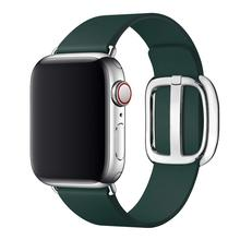 2019 New Classic Genuine Leather Apple Watch Band 38mm 40mm 42mm with Modern Buckle Woman Man Bracelet for Series 4 3 2 1
