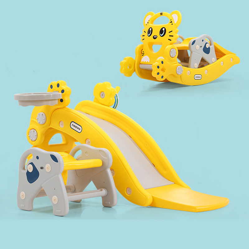Livraison gratuite multifonction 2 en 1 bébé chaise berçante intérieur jouer toboggan enfants jouets bébé Jumper Swing 180 degrés Rotation 1-4Y