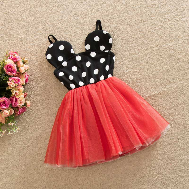 f4528793574 2017 New kid Dress Princess Girls Party Dresses Polka Dot Baby Girls Clothes  Kids Clothing For 2-6Y
