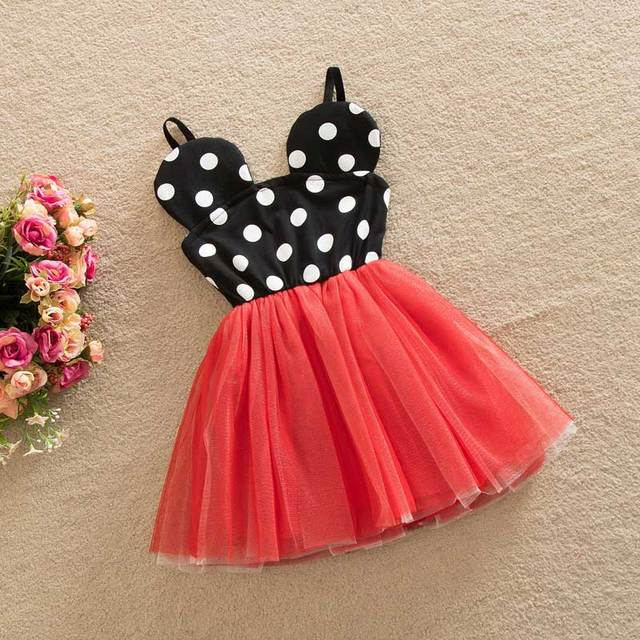 d3a3dd94ed US $12.8 |2017 New kid Dress Princess Girls Party Dresses Polka Dot Baby  Girls Clothes Kids Clothing For 2 6Y-in Dresses from Mother & Kids on ...