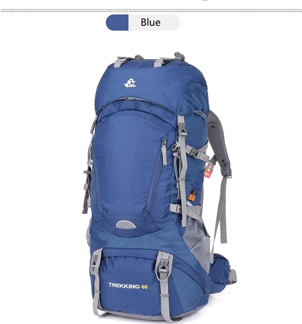 60l náilon escalada mochila saco quadro interno
