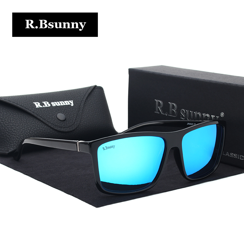 R.Bsunny alloy Polarized Sunglasses Men Driver Mirror rectangle Sun glasses Male Fishing Female Eyewear For Men original box ...