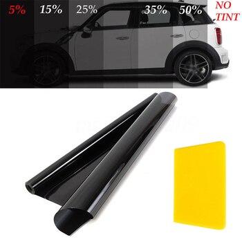 50 cm * 6 m רכב חלון סרט אנטי שריטה מדבקת רכב סטיילינג רכב חלון גוון סרט בית משרד זכוכית שמשיה 99% UV דחיית נימול