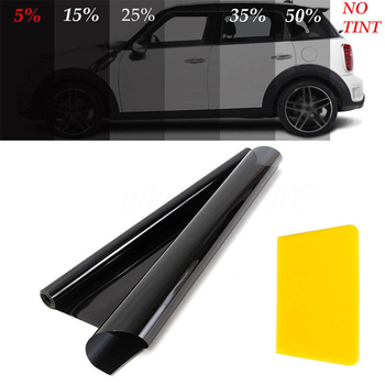 50cm*6m Car Window Film Anti Scratch Sticker Car-Styling Car Window Tint Film Home Office Glass Sunshade 99% UV Rejection Uncut