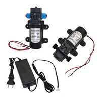 DC 12V 60W Micro Diaphragm Water Pump Self-priming Booster Pump Automatic Switch 5L/min for Home garden 1 Pcs