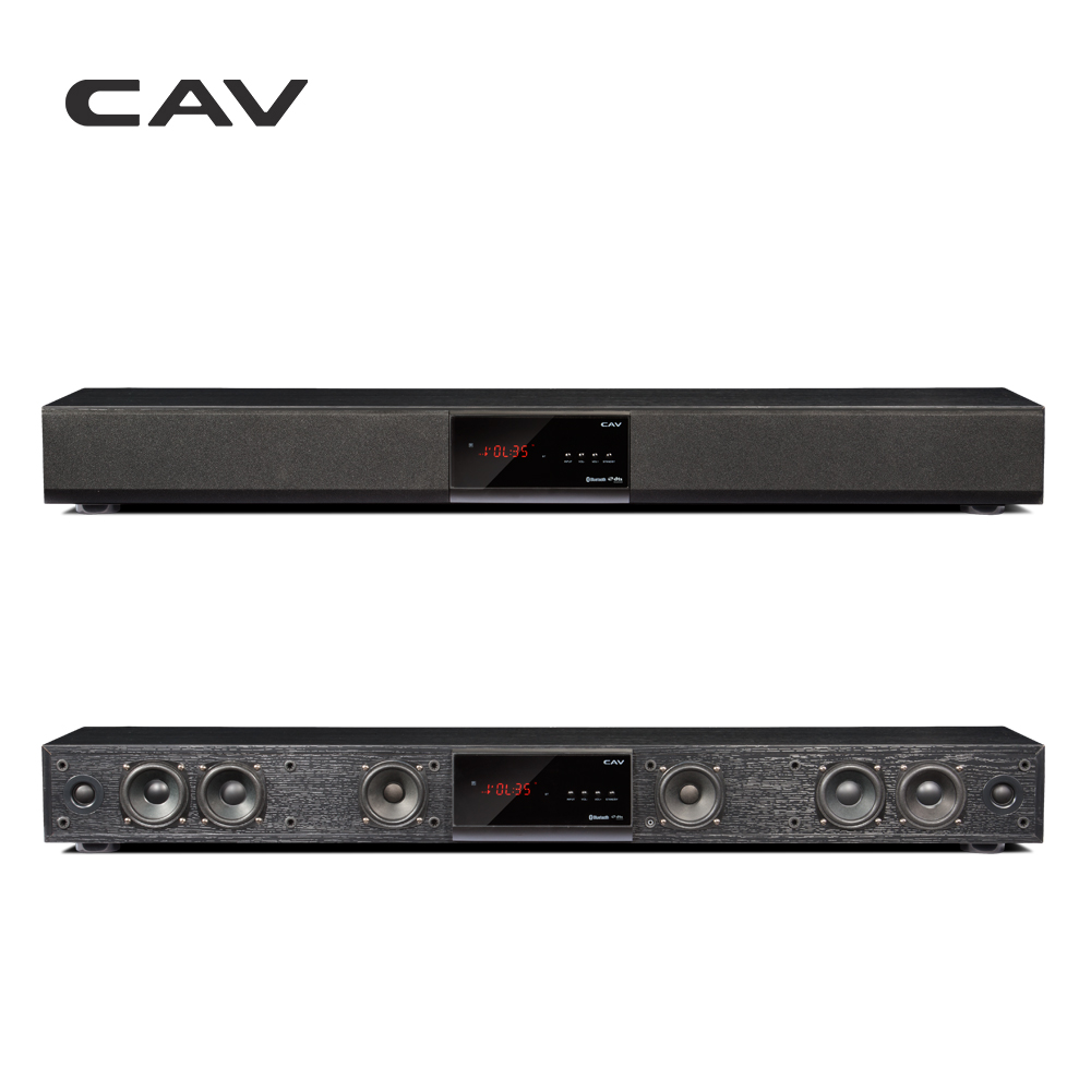CAV Bluetooth Soundbar 3.1 Canali TV Altoparlante Di Legno Wired Dual Bass Colonna Barra Audio Home Theater Sistema di 10 Unità di Altoparlanti