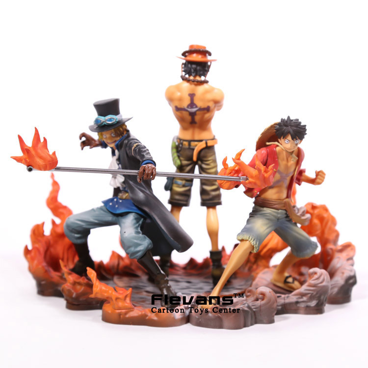 Anime One Piece DXF Luffy Ace Sabo PVC Action Figures Collectible Model Toys 3pcs/set OPFG467 [yamala] 2pcs set 18cm anime one piece luffy ace pvc action figure model toys christmas toy model gifts for children