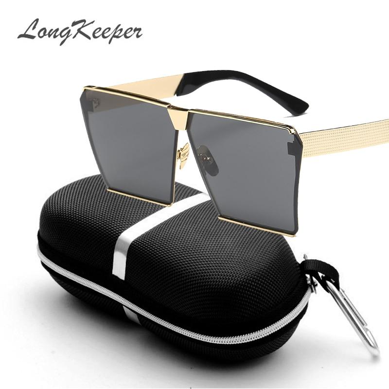 LongKeeper Nya färger Kvinnor Solglasögon Unika Oversize Shield - Kläder tillbehör - Foto 2