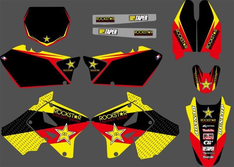 Etiquetas gráficos kits para Suzuki RM125 RM250 2001 2002 2003 04 05 06 07  08 09 10 2011 2012 RM 125 250 59580d7e5402