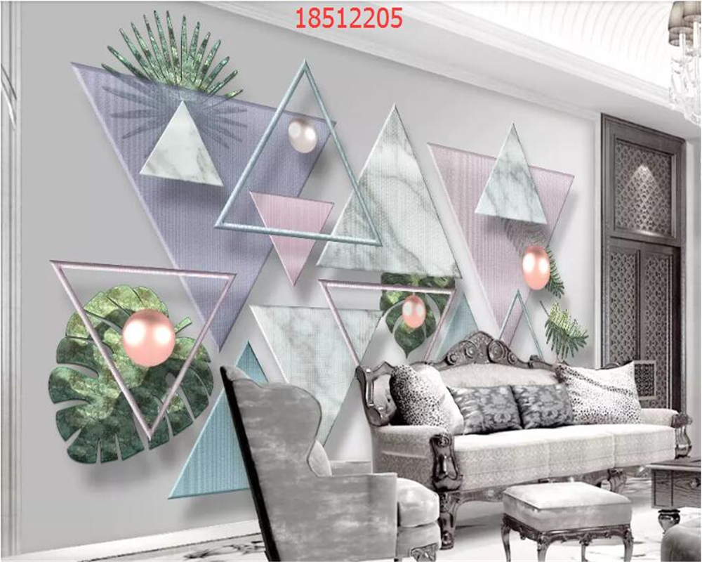 beibehang Custom size Original 3d modern minimalist geometric marble mosaic TV background wall decorative painting wallpaper