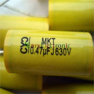 Image 4 - Wholesale and retail long leads yellow Axial Polyester Film Capacitors electronics 0.47uF 630V fr tube amp audio free shipping