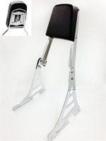 Aftermarket motorcycle parts Flame Backrest Sissy Bar for Sportster XL883C R XL1200R C XLH883 XLH1200 CHROMED