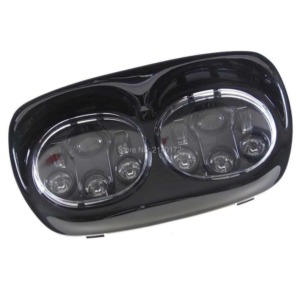 """45 Вт/30 Вт 7 """"Круглый двойной светодиодной лампы проектора с высоким/Низкий балки для Harley Davidson мотоцикл Дорога glide"""