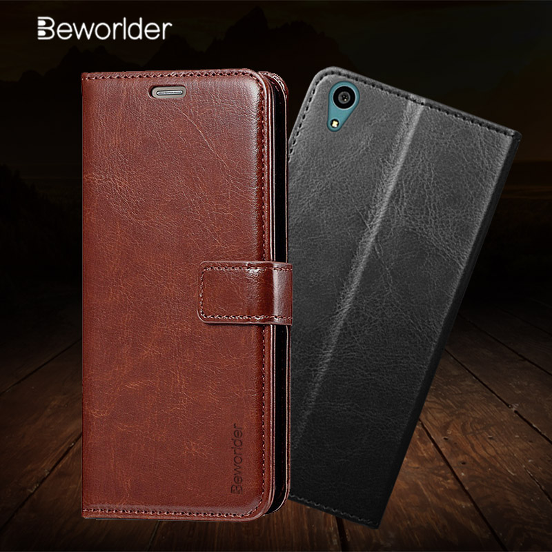 Beworlder For Sony Xperia Z2 Case Sony Z2 Business PU Leather Case Flip Stand Card Slot Photo Frame Cover For Sony Xperia Z2