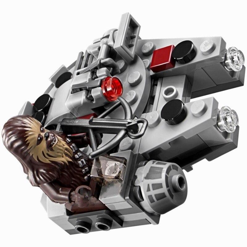 (YNYNOO)2018 Hot Sale 1pcs StarWars Blocks Micro Fighters Clone Wars Spaceship Classic Starwars Millennium Falcon Chewbacca