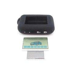Гибкий кабель с ЖК-дисплеем E90 + силиконовый чехол для пульта дистанционного управления Starline E90 с полосками Zebra, бесплатная доставка