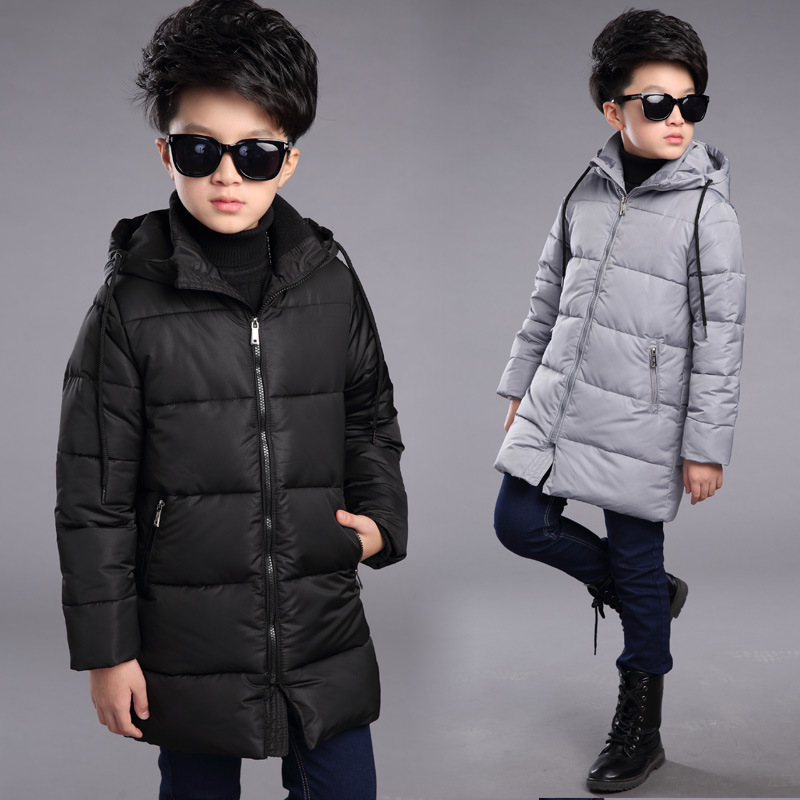 baby big boys 8 10 12 14 years winter hooded jackets for boys long thick coats kids cotton warm padded children tops clothing casual 2016 winter jacket for boys warm jackets coats outerwears thick hooded down cotton jackets for children boy winter parkas