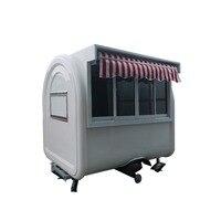 2*1.6*2.3m Trucks Car Van Ice Cream Churros Bbq Coffee Mobile Kitchen Fast Food Trailer Truck Ice Cream Coffee Mobile Kitchen