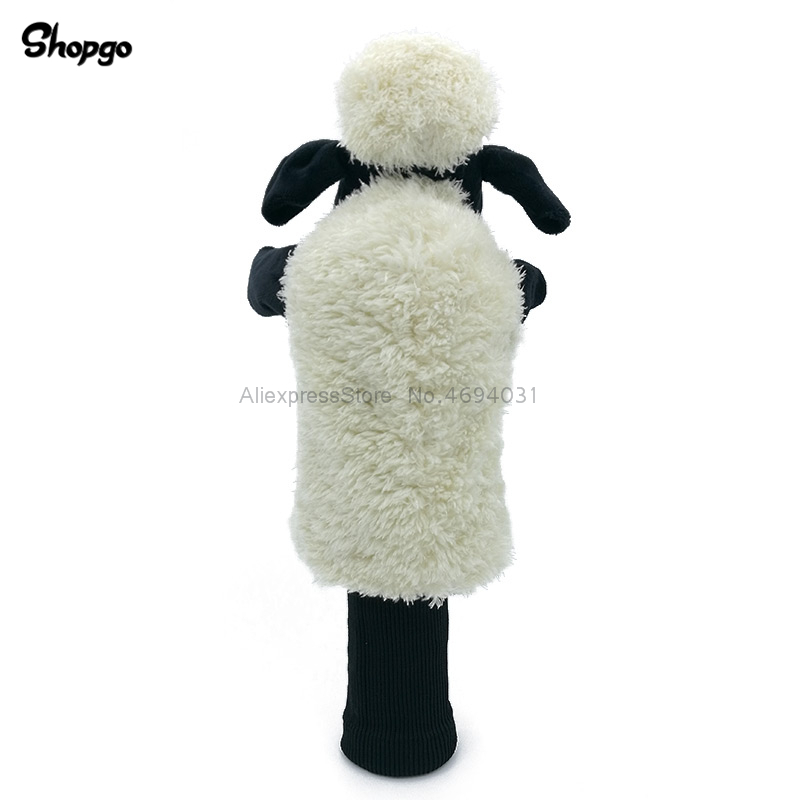 Plush Cartoon Golf Head Cover Fairway Woods & Hybrid Rescue Animal Golf Clubs Headcover Mascot Novelty Cute Gift
