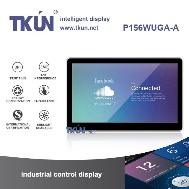 TKUN 15.6 pollice display Esterno capacitivo Evidenziare industriale luce del sole Può Visibile Impermeabile pannello ad alta risoluzione P156WUGA-A
