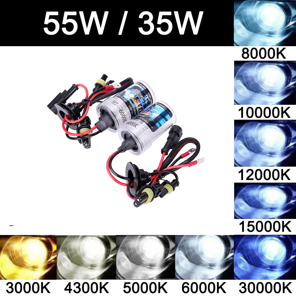 2x Kit Hid Xenon h7 55w 6000k 8000k Bulb Xenon h4 Hb4 6000k 55w Hi Lo High Low Beam 35W H7 H1 H3 H8 H9 H11 9005 HB3 9006 10000K hot sale high quality auto xenon hid conversion kit 12v 35w h4 hi low dual beam 10000k freeshipping