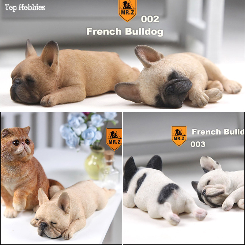 1/6 échelle réaliste sommeil bouledogue français sculpter modèle résine Animal chien Pet modèle pour 12in figurine accessoires jouets