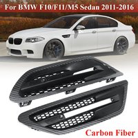 Pair Car Side Air Flow Vent for Fender Grilles Carbon Fiber Matte Black  Gloss Black  For BMW F10 F11 M5 Sedan 2011 2016|Chromium Styling| |  -