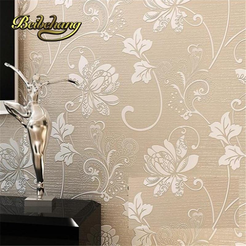 Beibehang Papel De Parede Sala.Floral Nonwoven Wallpaper Texture 3D TV Backdrop Relief,wallpaper For Walls 3 D,wall Paper