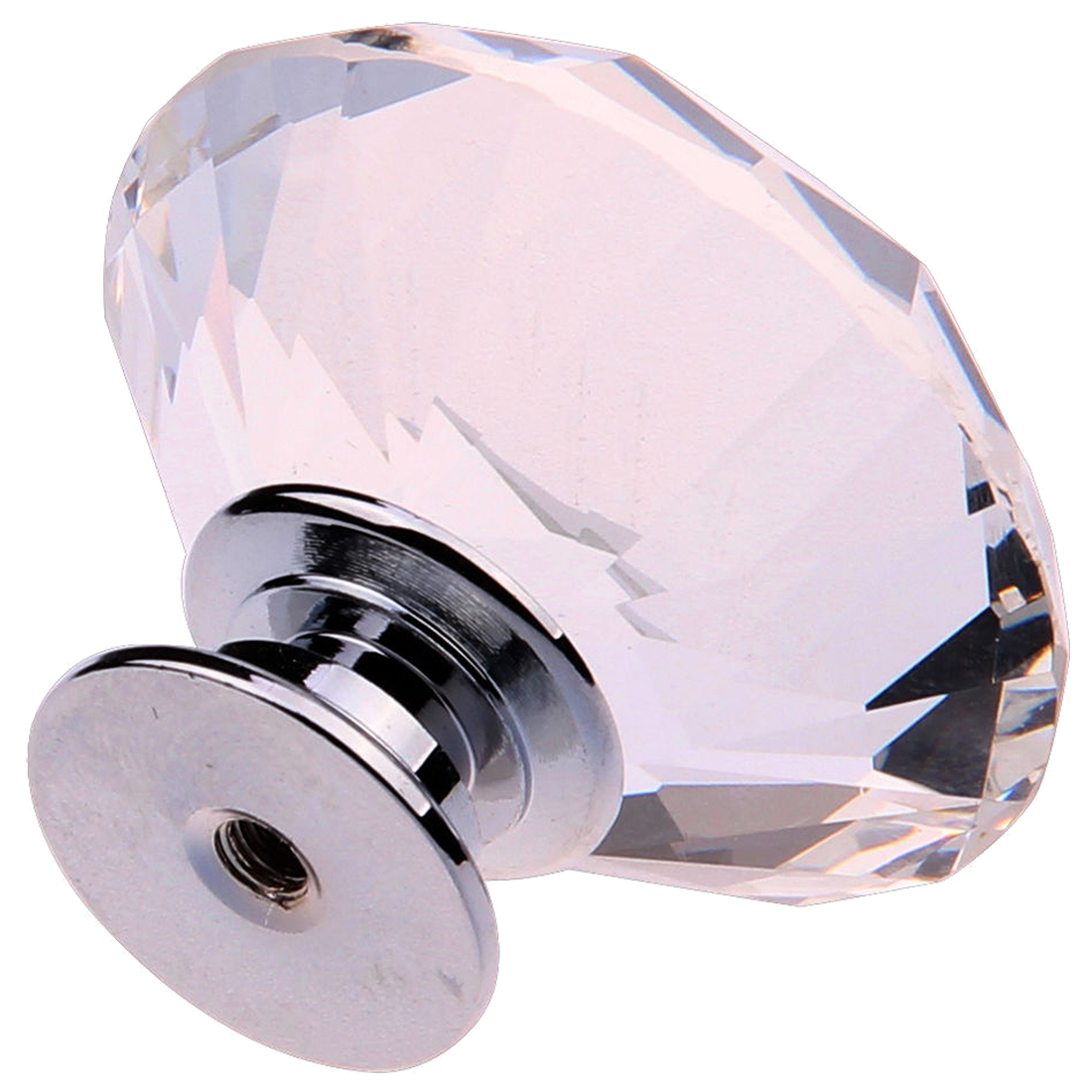WSFS Hot 8X 40MM Clear Crystal Glass Door Knobs Handles Diamond Drawer Cabinet Furniture ausd 8x 40mm clear crystal glass door knobs handles diamond drawer cabinet furniture