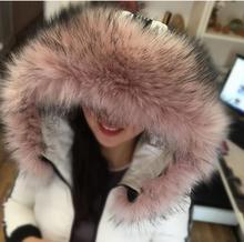 סתיו וחורף נשים של פו פרווה צווארון כובע שועל פרווה צווארון גדול דביבון פרווה צווארון צעיף צעיף קייפ לעבות חם צעיף