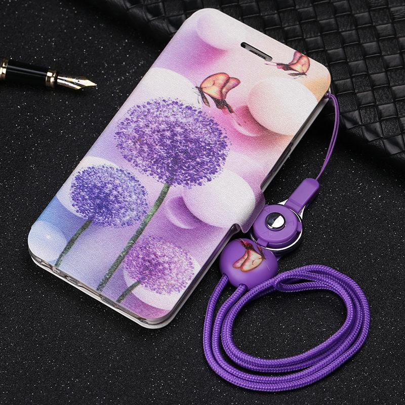 Colorful Flip Leather Phone Case For Meizu 15 Lite Case Cute Cartoon Wallet Cover For Meizu 15 Lite Meizu M15 Case Cover Bag