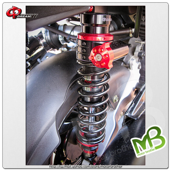 Modification of motorcycle shock absorber Double rear shock absorber without hanging bottle