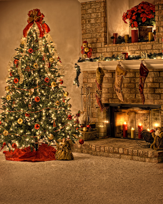 5x7ft Indoor Christmas Tree Hanging Sock Fireplace Living Room Photo Photography Studio Backdrop Vinyl Backgrounds decorations tree fireplace light room scene photo backdrop high quality vinyl cloth computer printed christmas backgrounds