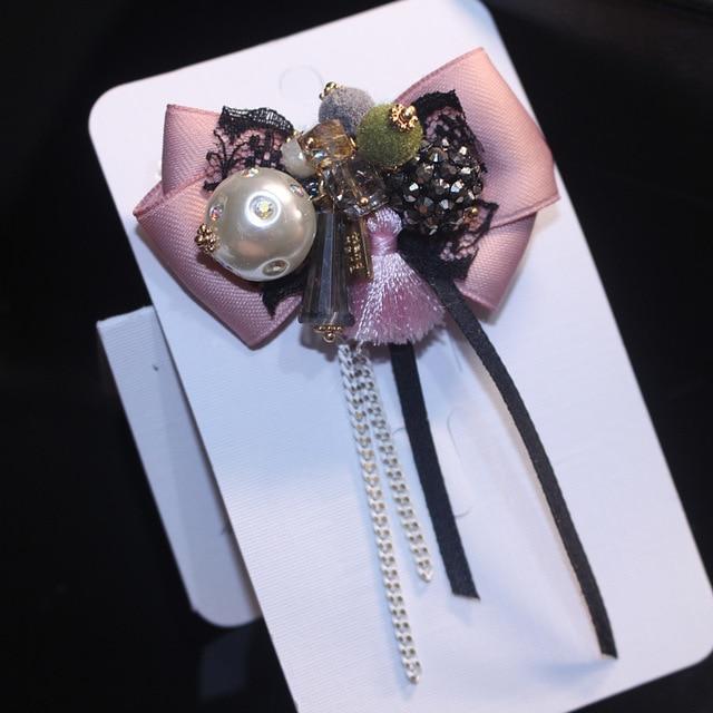 I-Remiel галстук-бабочка Ткань Искусство булавки и длинные струящиеся Броши бизнес Бабочка рубашка воротник аксессуары лацкан булавка броши Женщины