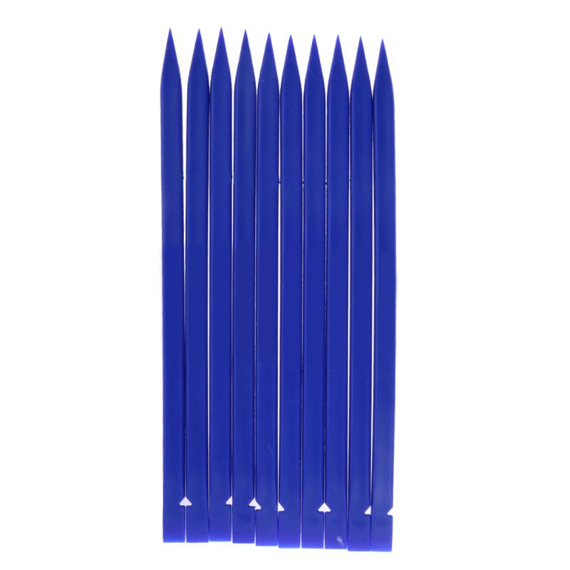 Alloet Universal 10pcs/set Mobile Phone Repair Opening Pry Tools, Plastic Spudger Blue Stick for iPhone for iPad Laptop(China)