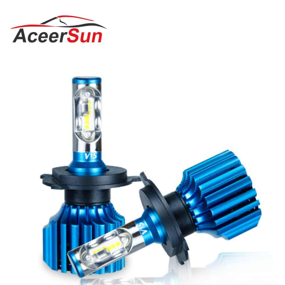 Aceersun H7 LED H4 Car Headlight Bulbs H8 H11 HB3 9005 HB4 9006 H1 9012 H15 Hi-Lo Beam 72W 12000LM CSP Chip Fog Light Lamps Bulb