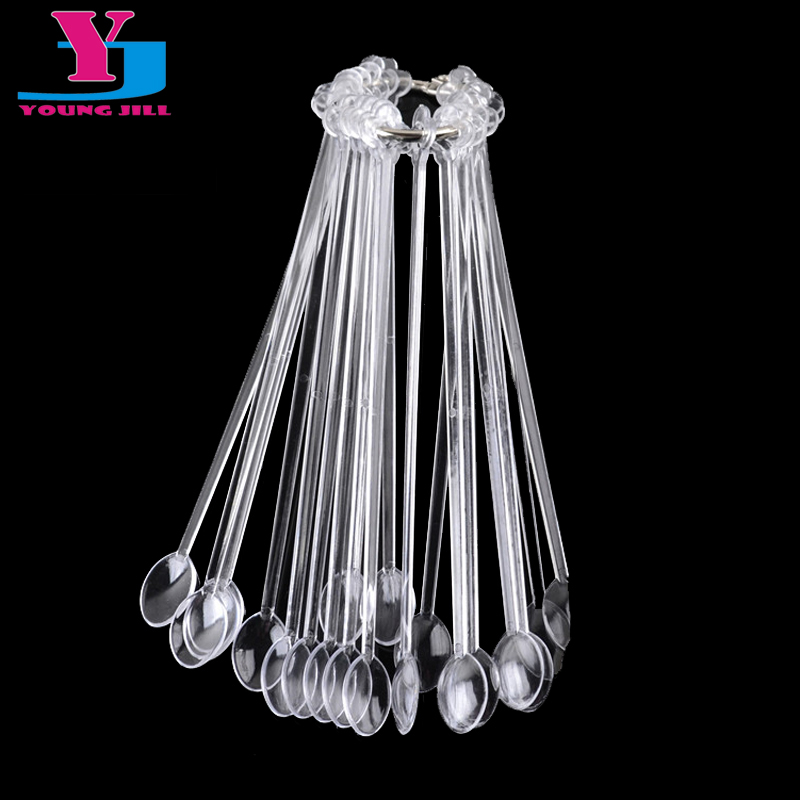 ̿̿̿(•̪ )New 20pc Spoon Fan Shaped Transparent False Nail Art Tips ...