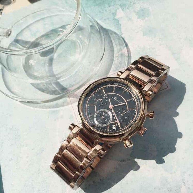 Offre spéciale genève or Rose femmes robe montre de luxe en acier inoxydable Sport Quartz bijoux montre-bracelet électronique reloj mujer 2017