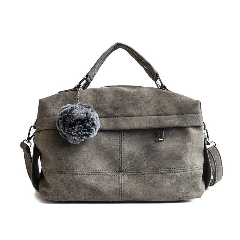 Herald Модные Винтажные Нубуковые кожаные женские сумки с ручкой сверху с  заклепками Большие женские сумки с 50fea70c5c3