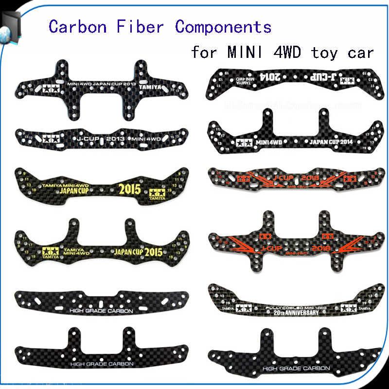 RC 4WD Carbon Faser Breite Hinten Platte Individuelles Teile Für Tamiya MINI 4WD spielzeug auto Carbon Faser Komponenten