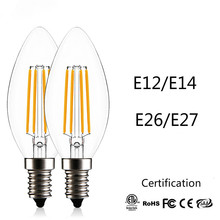 JSEX LED Bulb E12/E14/E26/E27 110v 220v Led Lamp Smart Light Filament Bulbs Corn Nature White Edison