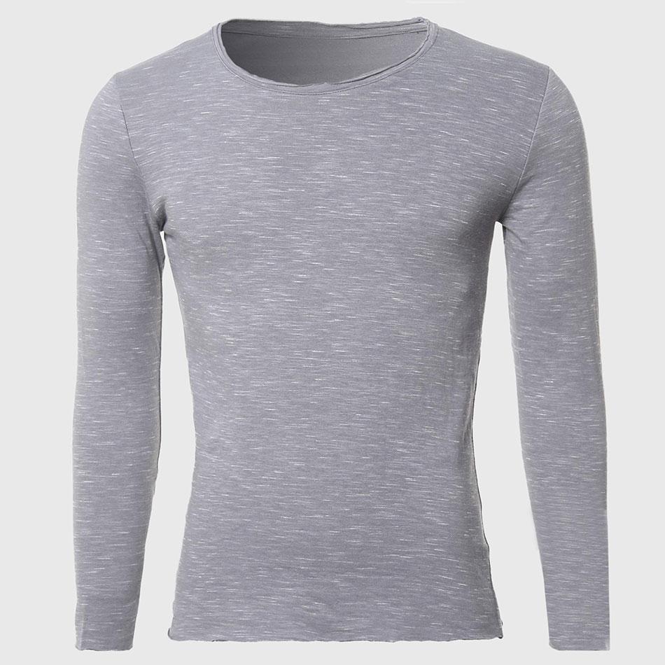 Buy Men Ripped Collar T Shirts Male