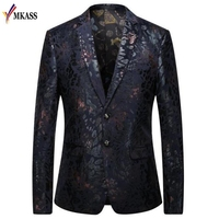 Floral Stylish Blazers For Men Slim Fit Mens Blazer Pattern Printed Blaser Homens Mens Blazer Personality Jacket Plus Size 5XL